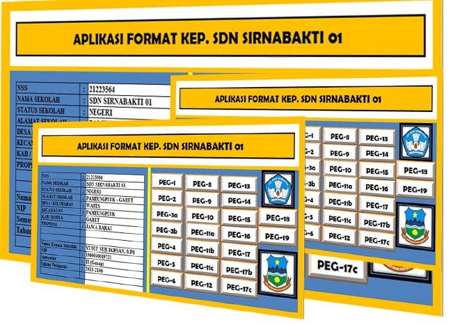 Aplikasi Administrasi Kepala Sekolah Kepegawaian Guru Berbasis Excel Kurikulum 2013