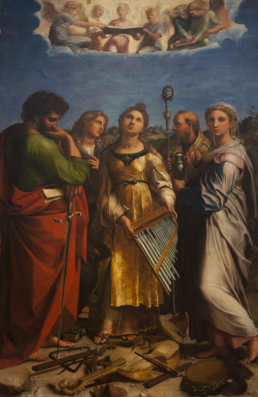 Rafa C A l Santi   Heilige Cecilia in extase met Paulus Johannes evangelist Augustinus en Maria Magdalena