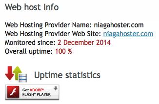 Uptime Niagahoster Menggunakan myhostinguptime.com