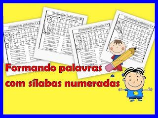 Atividades de alfabetização formar palavras