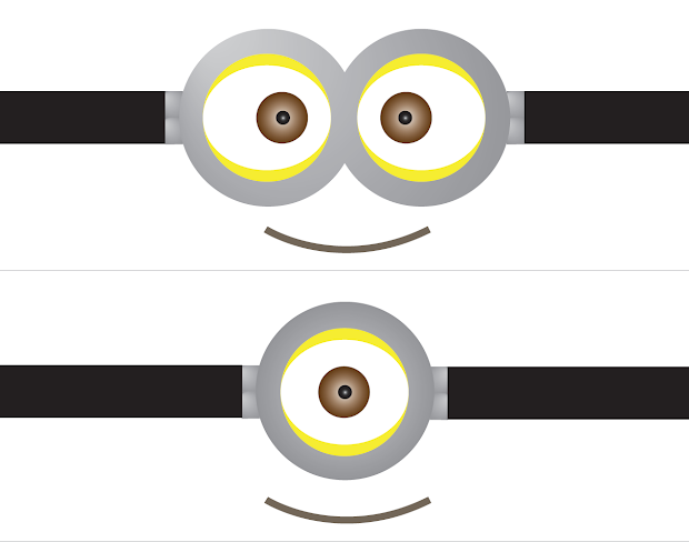 image about Printable Minions Eyes called Despicable Me 2 Minion Eye Printable - 12 months of Contemporary Drinking water