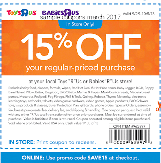 Toys R Us coupons march