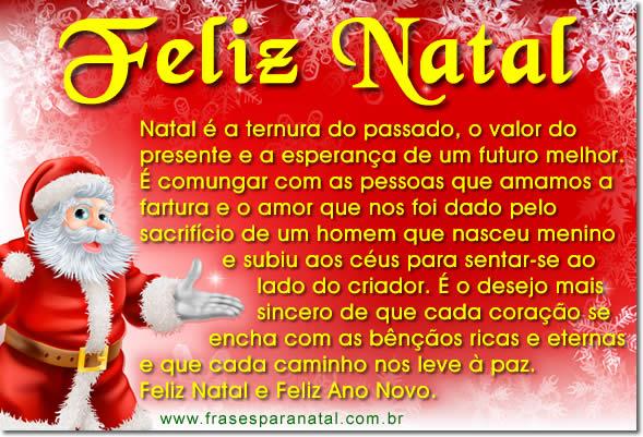 Mensagem De Natal Reflexão: FRASES E MENSAGENS NATAL 2012