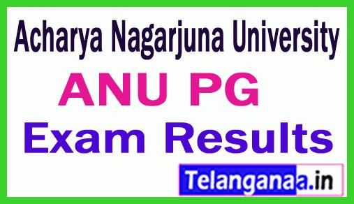 ANU Acharya Nagarjuna University PG Exam Result