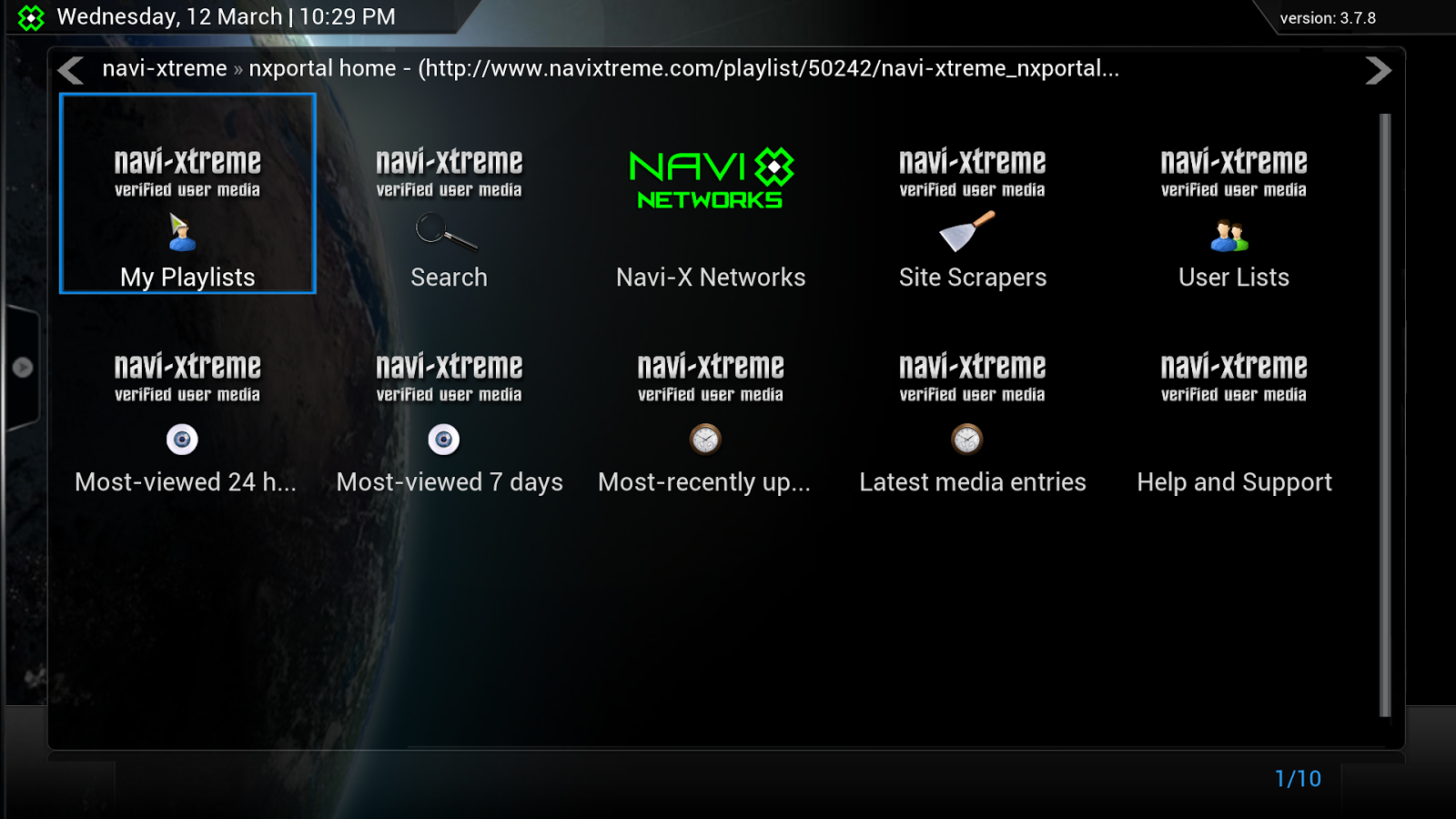 Navi-x screen shot