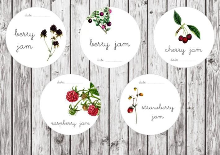 Etiquetas imprimibles gratis para los tarros de cocina