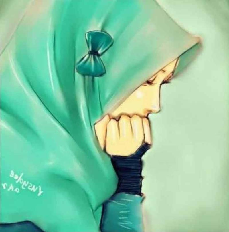 Animasi Muslimah Sedih Katapos