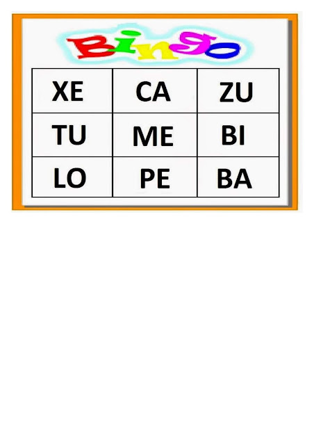 Bingo Silábico