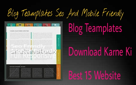 Blog Teamplates 15 Best Website