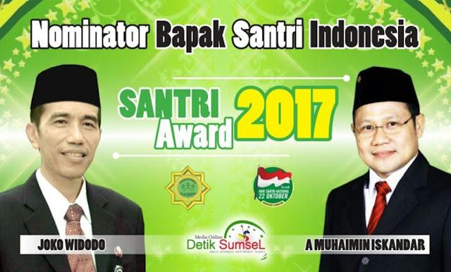 Jokowi dan Cak Imin Masuk Nominasi Santri Award 2017