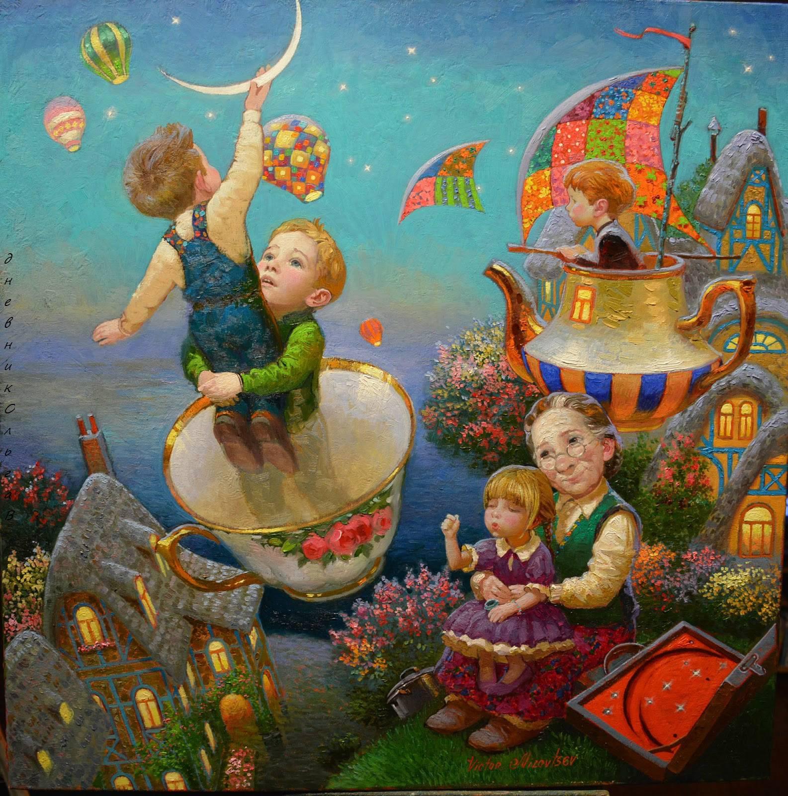 Victor Nizovtsev e suas pinturas encantadoras