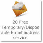 20 Free Temporary/Disposable Email address service