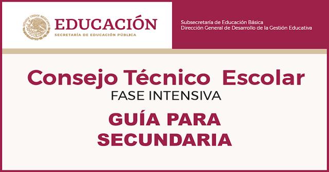 Guía del Consejo Técnico Escolar de Secundaria para la Fase Intensiva