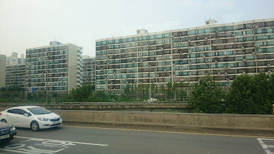 Ugly apartments overlooking the Han River