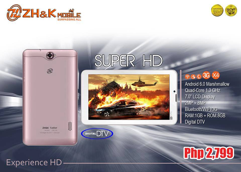 ZH&K Tablet Super HD w/ DTV