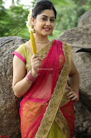Actress Ronika in Red Saree ~  Exclusive celebrities galleries 047.JPG