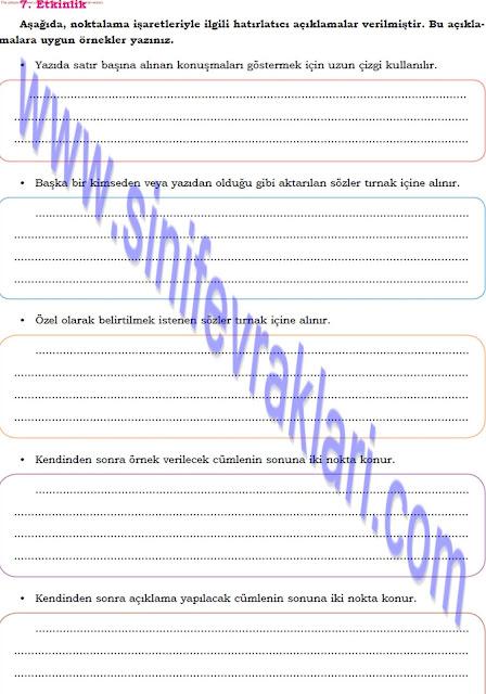 Dörtel Yayınları 8. Sınıf Türkçe Çalışma Kitabı Cevapları Sayfa 41