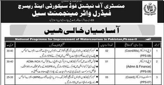 Federal Water Management Cell Jobs 2020