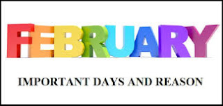 Fibruary  Month Birth Anniversaries , Death Anniversaries , Iincidents  in History amd January important dates and Reasons