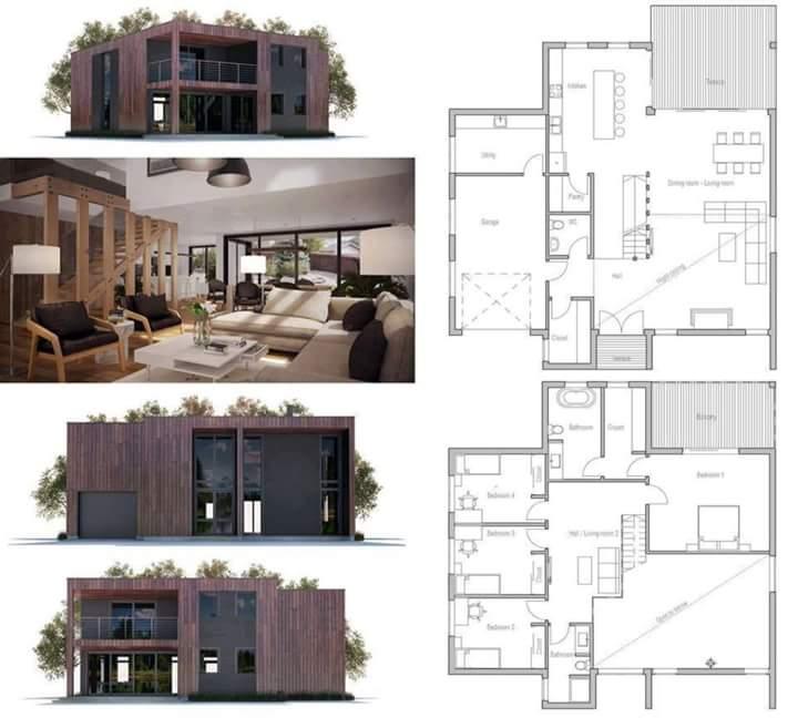 Denah dan Desain Rumah Minimalis Kotak