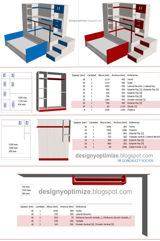 Dise o de muebles madera fabricaci n y planos juego de for Programa diseno muebles online