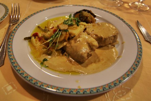 Plato en el Restaurante Sol y Sombra del Hotel Maestranza
