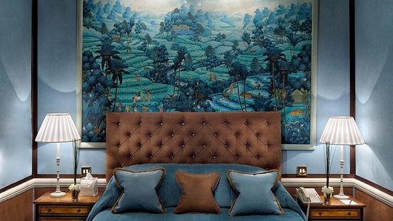 Habitaciones decoradas en marr n y azul dormitorios - Habitaciones de color azul ...