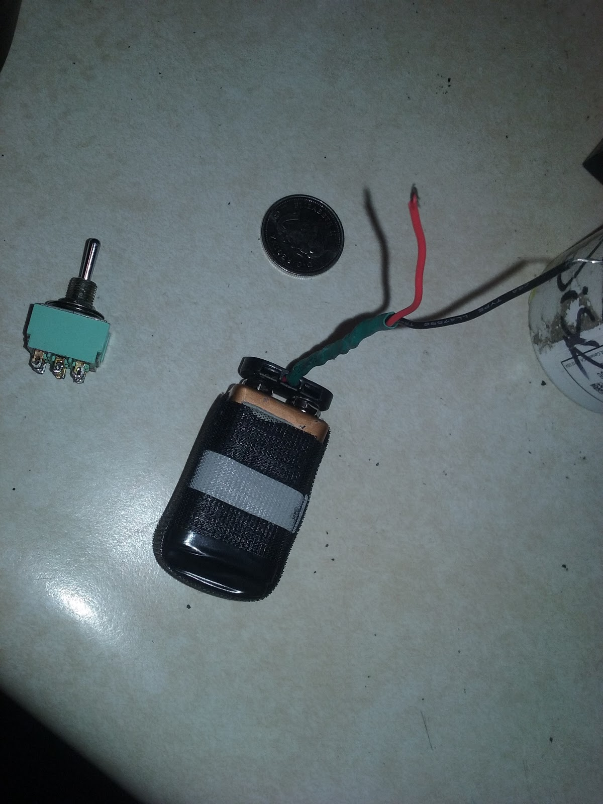 *extra six volts are achieved by some form of adapter whatever 12v  batteries whatever