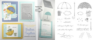 Stampin' Up! Weather Together Card Kit for April 2018 Stamp of the Month Club by Julie Davison www.juliedavison.com/clubs