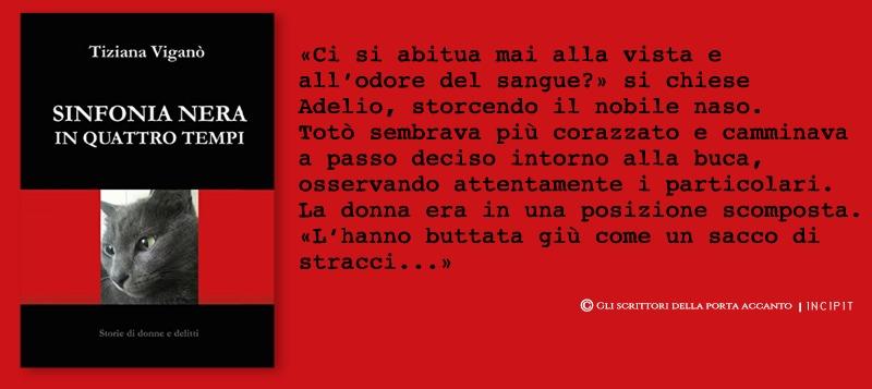 Sinfonia nera in quattro tempi, di Tiziana Viganò, incipit - Libri Gli scrittori della porta accanto