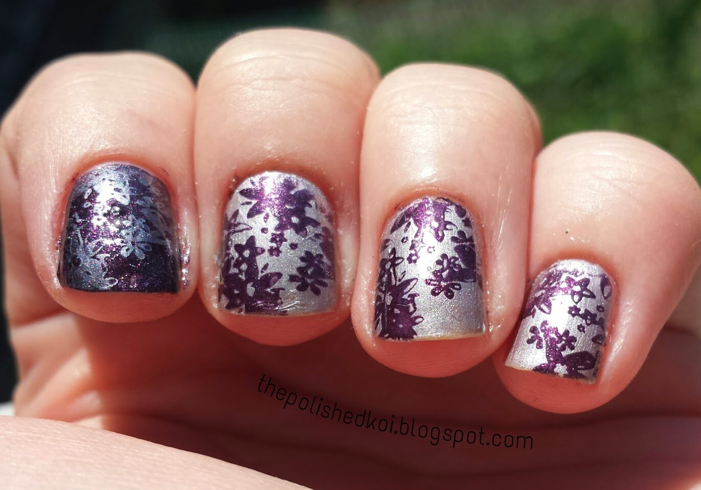 Sally Hansen Pedal to the Metal MoYou London stamping