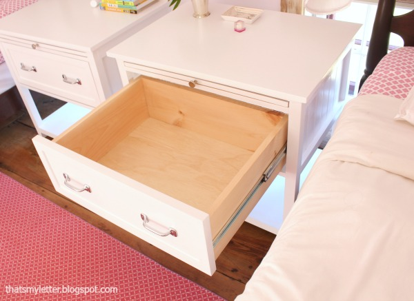 diy nightstand with deep drawer