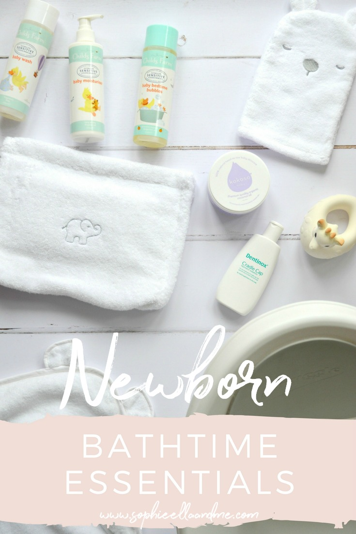 Newborn Bathtime Essentials
