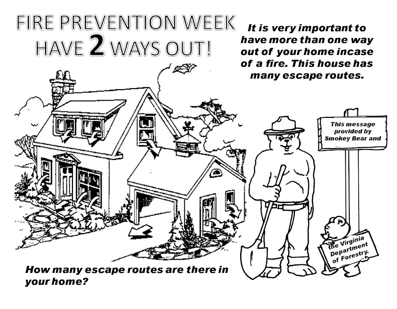 childrens fire safety coloring pages - photo#44