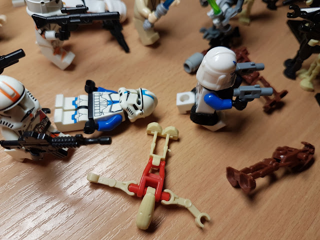 lego clone wars clone troopers versus battle droids Star Wars