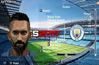 Download Texture Face Pack Man City for PES PSP Android [Jogress v2]