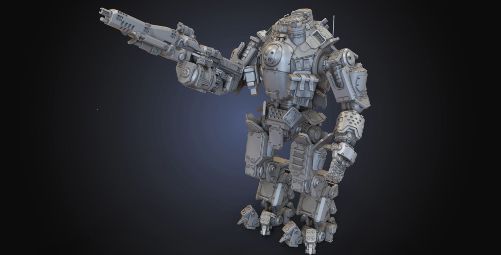 Battle Robot Atlas Titan 3D Model | Assembly | Nixon's 3D Models