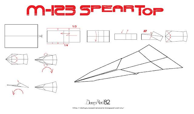 Infografía avión de papel M-123 SpearTop