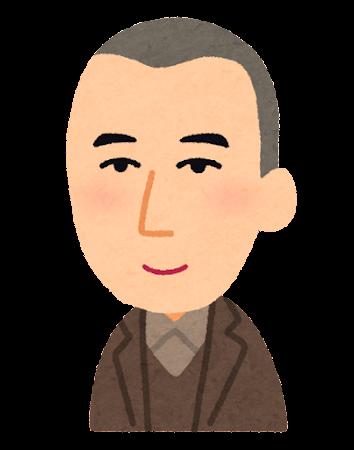 宮沢賢治の似顔絵イラスト