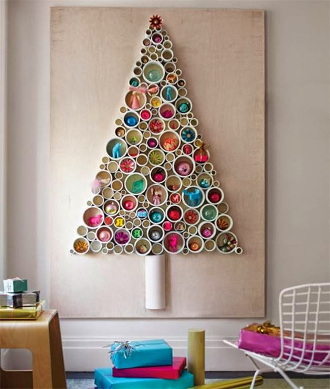 The Art Of Up-Cycling: Christmas Trees Made From Recycled