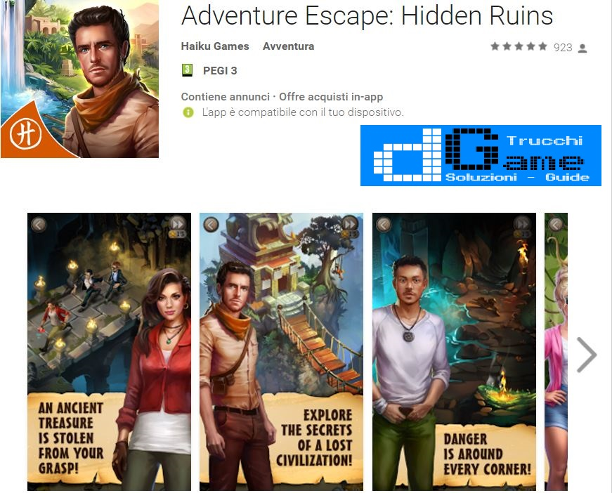Soluzioni Adventure Escape Hidden Ruins