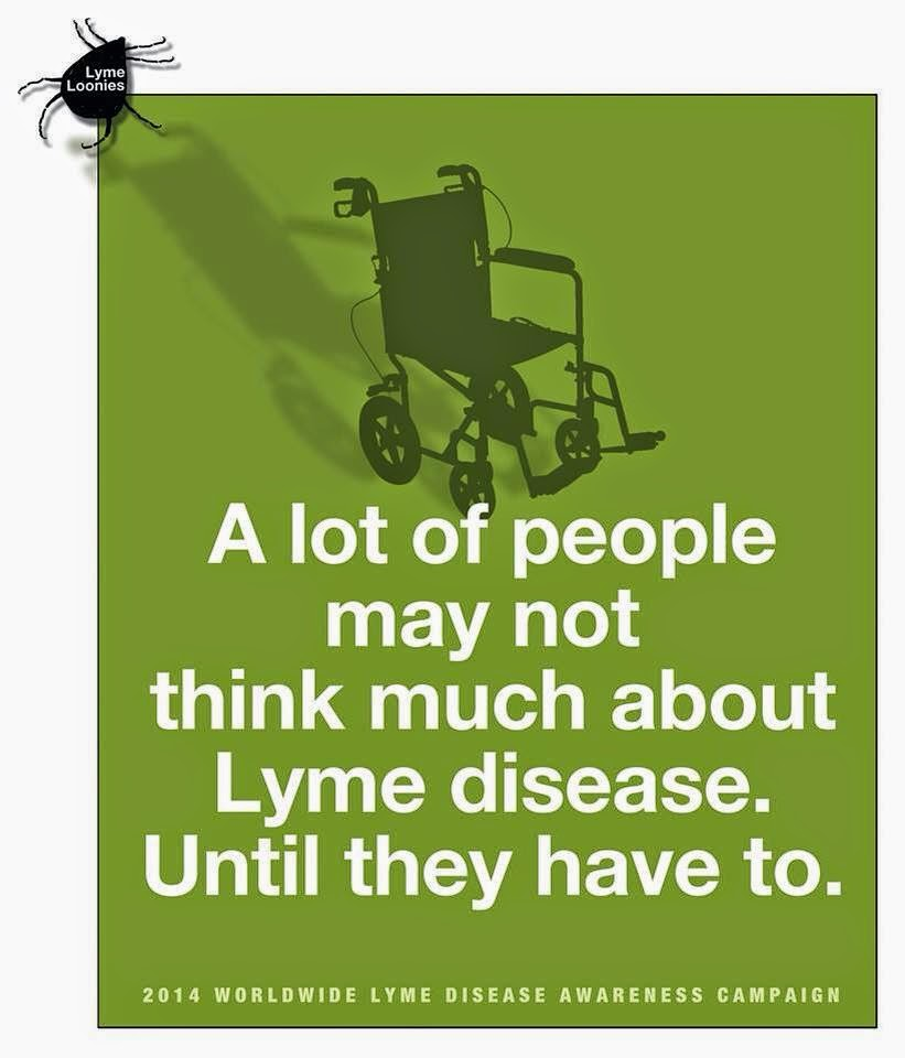Image result for may is lyme disease awareness month wheelchair