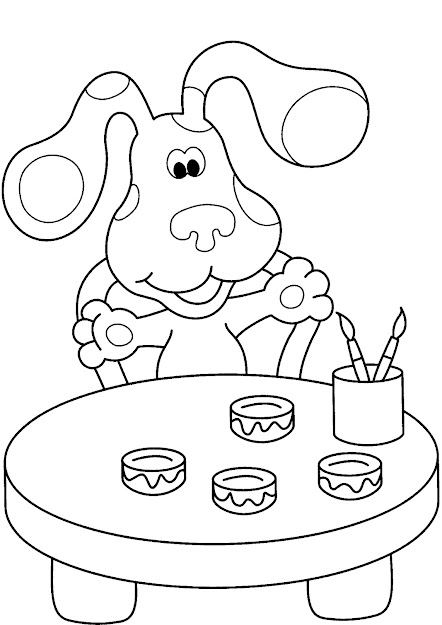 Nickelodeon Halloween Coloring Pages Blues Clues Coloring Pages With Nickelodeon  Coloring Pages