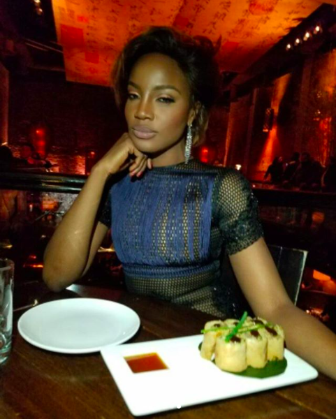 Seyi Shay Stops Traffic In US After Stepping Out In Risque Outfit