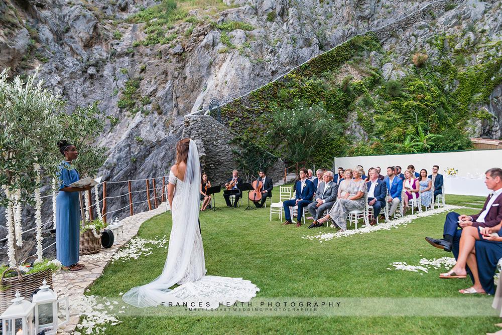 Amalfi coast garden wedding