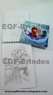 kit pinturinha, frozen, lembrancinha frozen, brindes frozen, tema frozen, festa frozen