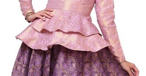 Model baju songket pesta kombinasi silungkang modern atasan terbaru