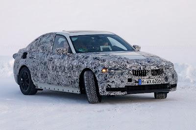 Next Gen 2018 BMW 3 Series spy shot Hd Pictures 01