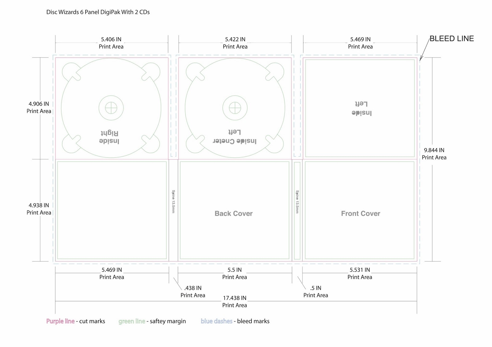 Cd template, dvd template by disc makers.