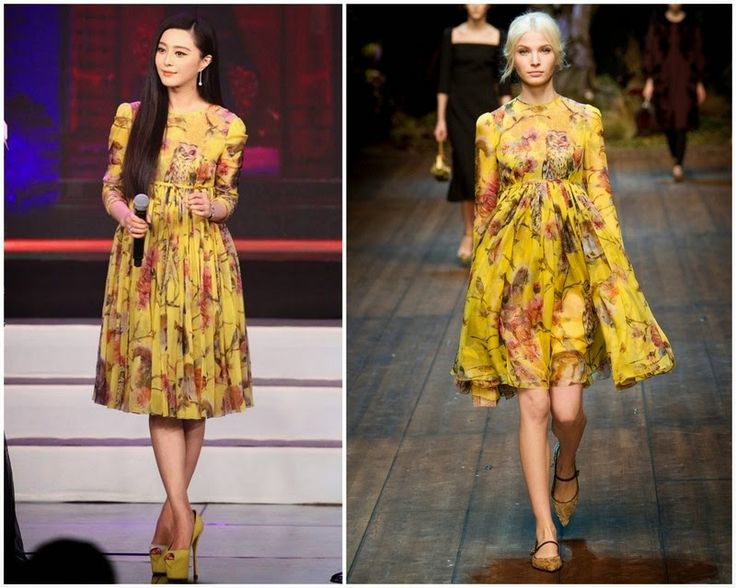 White Haired Witch of Lunar Kingdom Beijing Press Conference - Fan Bingbing in Dolce and Gabbana
